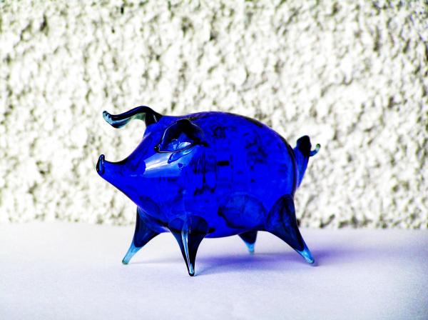 Prasátko modré, 12cm